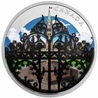 Tercera moneda de la serie Jardines de Canadá