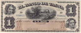 """Billetes de """"El Banco de Tacna 1872 - 1922"""""""