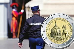 Bicentenario de la Gendarmería del Vaticano en 2 euros