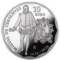 IV Centenario de la muerte de Cervantes en oro y plata