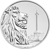 """""""Trafalgar Square"""" en 100 libras plata"""