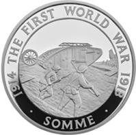 La Batalla del Somme hace cien años, 5 libras plata