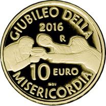 Jubileo de la Misericordia en 10 euros oro
