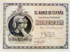 Colección numismática del Banco Santander en Boadilla del Monte.