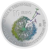 Moneda de la FNMT dedicada al Turismo Sostenible.