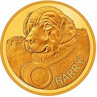 Suiza dedica una moneda al perro Barry