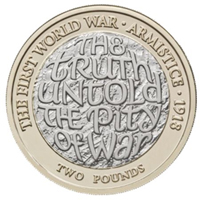 Moneda de 2£ homenajea el fin de la Gran Guerra
