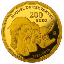 Oro y plata para el IV Centenario de la muerte de Cervantes