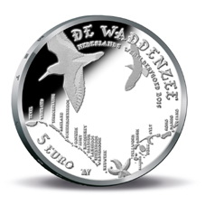 Holanda y el Mar de Wadden en 5 euros plata