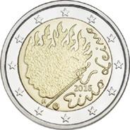Finlandia recuerda al escritor Eino Leino en 2 euros