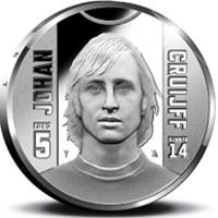 Johan Cruijff en la nueva moneda de Holanda