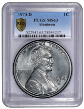 El centavo de Lincoln 1974-D en aluminio regresa a la US Mint