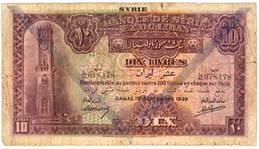 Siria y el Líbano, extraordinaria serie en Libras de 1939