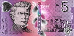 Los nuevos 5 dólares australianos en septiembre