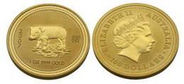 Moneda Año Lunar del Cerdo 2007 Oro 1 oz