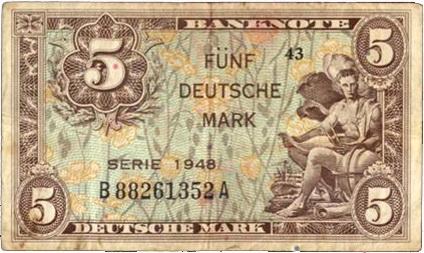 Alemania Ocupación Aliada II Guerra Mundial Serie Deusche Mark 1948
