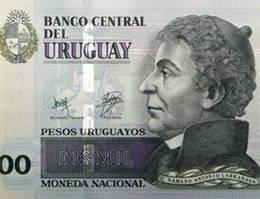 Nuevos billetes de 2.000 pesos uruguayos con mejores medidas de seguridad