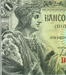 Fernando el Católico, billete de 1 peseta de 1943