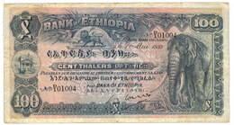 Etiopía, Thalers del Banco de Etiopía de 1932