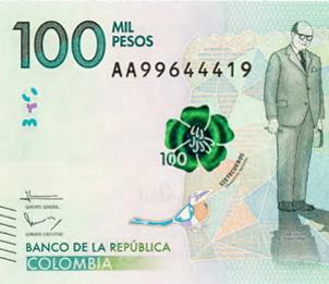 Colombia estrena billete de 100.000 pesos dedicado a Carlos Lleras Restrepo