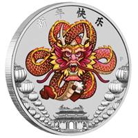 Una onza de plata conmemora el Año Nuevo Chino