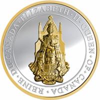El Gran Sello de Canadá representado en una moneda