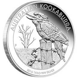 """""""Kookaburra 2016"""", bullion australiano"""