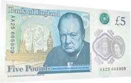 Billete polímero para el Reino Unido dedicado a Churchill