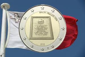 Proclamación de la República de Malta en 1974 en 2 euros