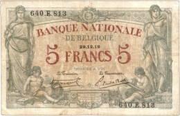 Bélgica, 5 Francos de 1918 vs. 5 Francos de 1919