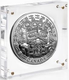 """La """"Máscara de la Danza"""" de los Haida en 5 kilos de plata"""