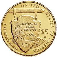 Servicio Nacional de Parques en 5 dólares oro