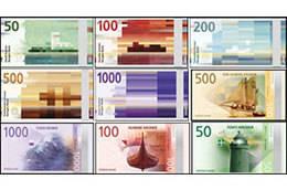 Nuevos billetes de Noruega, finalmente en circulación