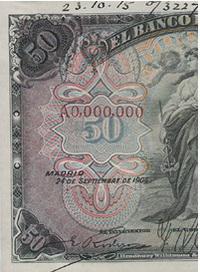 Elementos de seguridad en los billetes españoles (I)