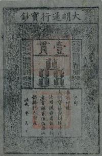Primeros billetes impresos en China