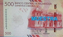 Nueva familia de billetes en Nicaragua
