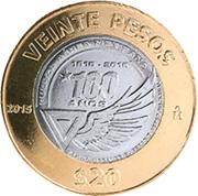 Fuerza Aérea Mexicana 1915-2015, en 20 pesos