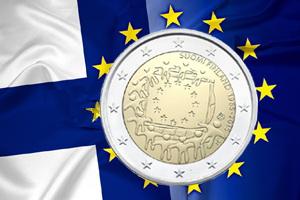Finlandia abre las emisiones de los 2 euros dedicados a los 30 años de la bandera de la UE