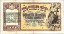 Italia 500 liras 1941 vs. Albania 100 frangas 1945