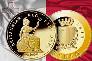 "Malta recuerda al viejo ""third farthing"" en 5 euros de oro"