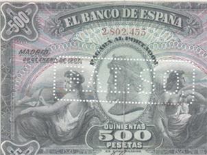 Más datos sobre el billete de 500 pesetas del 28 de enero de 1907
