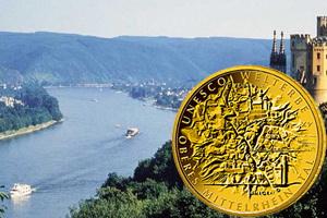 Alto Valle del Rhin Medio en 100 euros oro de Alemania