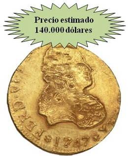 'Repóker de monedas españolas en la subasta de Heritage Rare Coins'