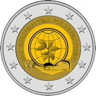 """""""2015 Año Europeo del Desarrollo"""" en 2 euros de Bélgica"""