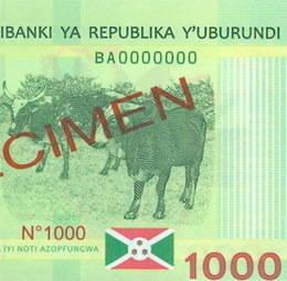 Burundi emite nuevos billetes de 1.000 francos burundeses