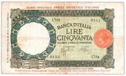 África Oriental Italiana 50 Liras de 1938
