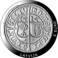 El ferding en plata de Livonia del siglo XVI