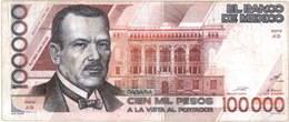 México 100.000 Pesos de 1988 vs. 100 Nuevos Pesos de 1992