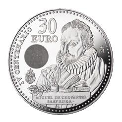 De nuevo Cervantes en 30 euro, ahora en el IV centenario de su muerte