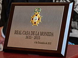Placa de Honor de la Real Orden de Isabel la Católica para la Ceca de Madrid